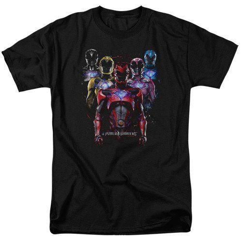 Power Rangers Team of Rangers T Shirt Black