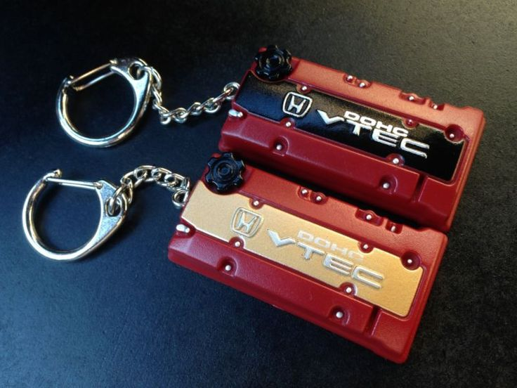 Details about F20 BLACK TOP Honda engine cover keyring to suit S2000 rocker cover JDM chain   B ...