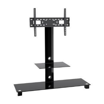 Mesa para TV Vidrio y Metal Negro T4003L