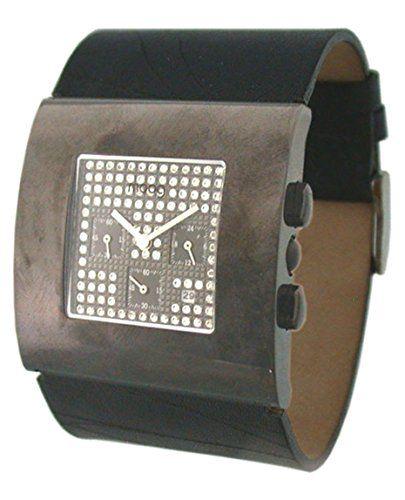 Moog Paris Damen-Armbanduhr, schwarzes Zifferblatt, schwarzes Armband aus Rindsleder, hergestellt in Frankreich, M44192-002 - http://uhr.haus/moog-paris/moog-paris-damen-armbanduhr-zifferblatt-schwarz-3