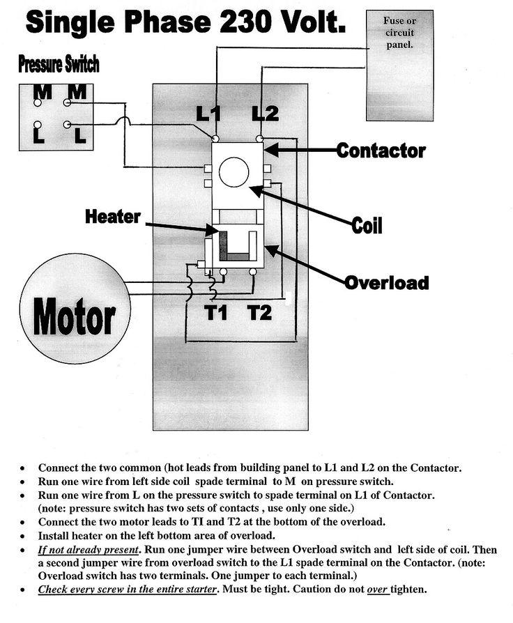 Air Compressor Pressure Switch, Compressor Wiring Diagram Single Phase