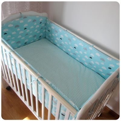 42.80$  Watch now - http://alirxj.worldwells.pw/go.php?t=32757420995 - Promotion! 6PCS Baby Cot bedding set Crib Bed Linen Kit Cartoon Baby Bedding Set Includes P,include:(bumpers+sheet+pillow cover)