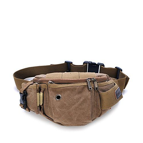 ZENTEII Unisex Canvas Waist Pack Shoulder Bag Backpack -- Be sure to check out this awesome product.