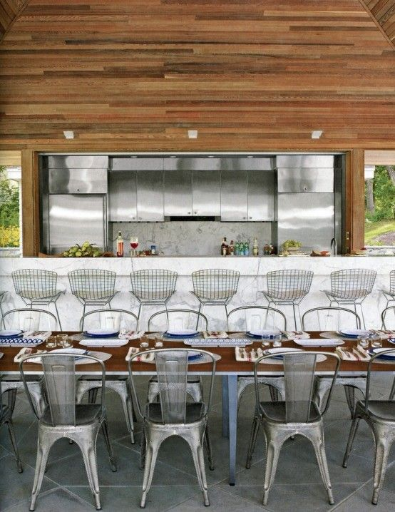 nice setup for an outdoor kitchen