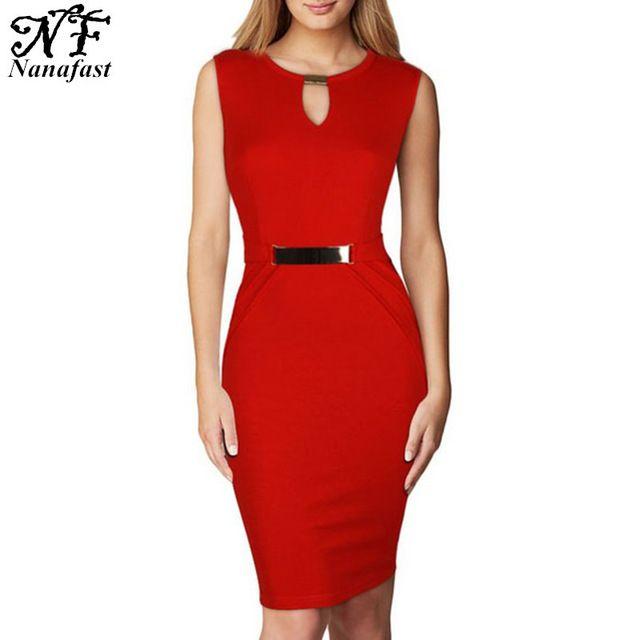 Vestido ajustado sin mangas ocasional del verano, para mujer Vestidos Midi XL 2XL para mujer oficina Keyhole Vestidos Femininas