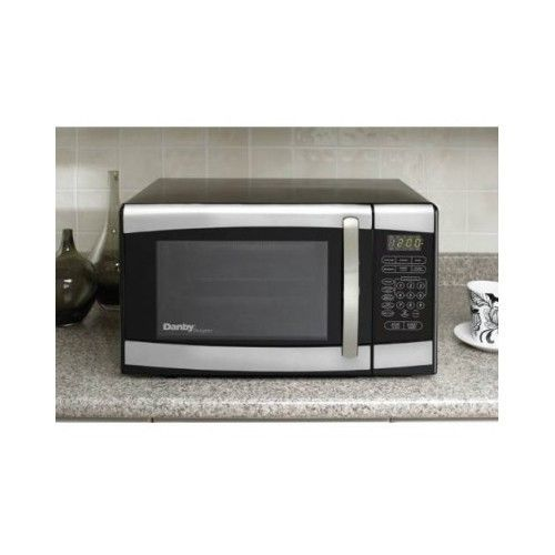 Microwave Oven Countertop Stainless Steel Black 700 Watts Compact Dorm Small #Danby