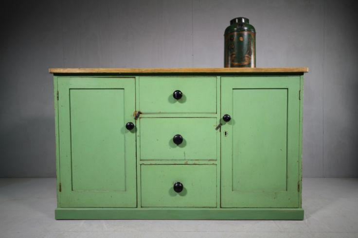 19th Century English Antique Pine Dresser
