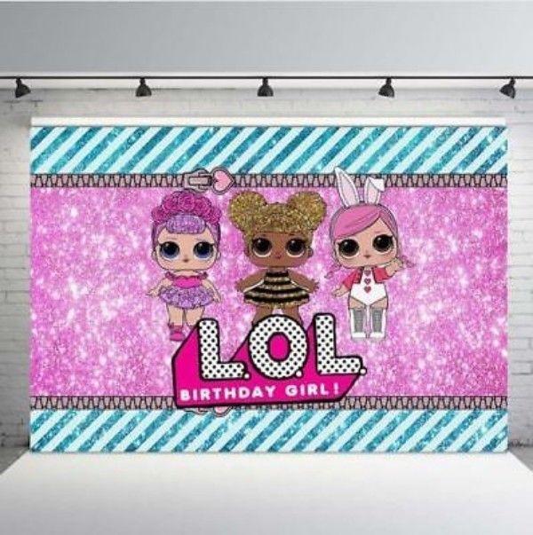 new lol surprise doll backdrop birthday