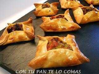Con tu pan te lo comas: EMPANADILLAS ABIERTAS DE CARNE Y PIMIENTOS