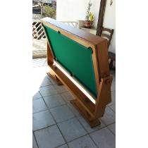 Mesa De Sinuca/bilhar/snooker/jantar - 2 Em 1 - Desmontável