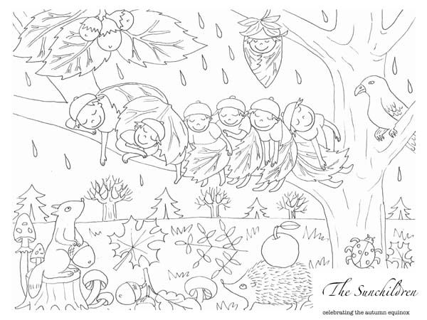 Free autumn inspired coloring page from Ancient Amber. http://www.herbalrootszine.com/archive/2014/09/free-printable-from-ancient-amber/ #ancientamber #herbalrootszine