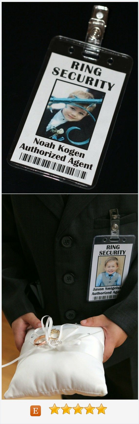 Ring Security Badge - Ring Bearer - Ring Security Agent badge.  Choose the title at no additional cost.  #ringsecurity #ringbeaer #ringsecurityagent #bride #weddings
