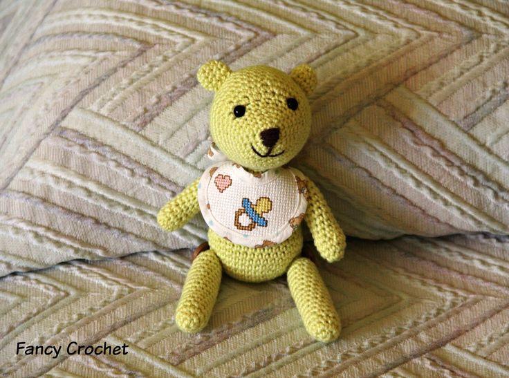 Birbo, l'orsetto per la buona pappa! Pupazzo amigurumi all'uncinetto - teddy bear amigurumi crochet