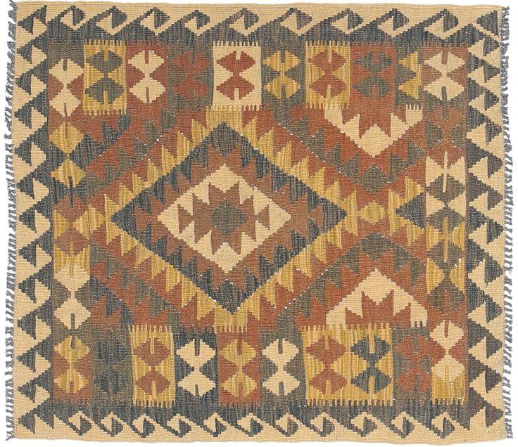 Kelim Afghan Old style 90x105 - CarpetVista