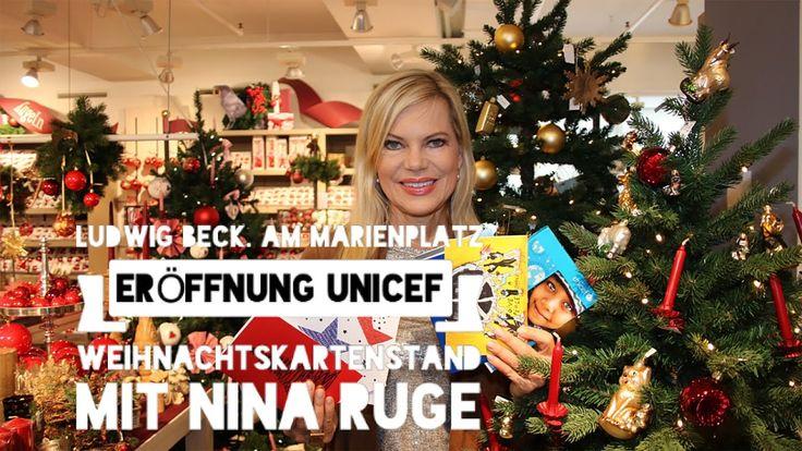 Eröffnung UNICEF Weihnachtskartenstand 2016 @ LUDWIG BECK mit Nina Ruge