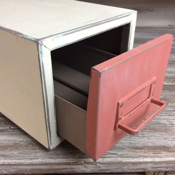 VINTAGE FILE CABINET For Sale Metal Box File by ShabbyShores