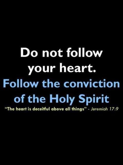 """Too many people say this, """"Just follow your heart""""......dangerous...."""