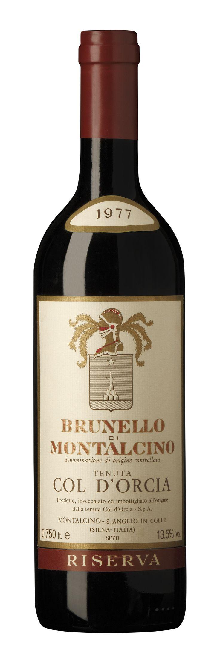 Old Riserva of Brunello di Montalcino by Col d'Orcia 1977