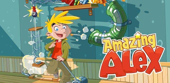 Amazing Alex - Juego de ingenio e imaginación de los creadores del  famoso Angry Bird. Ahora debemos conducir una pelotita... hasta la cesta colocando objetos en una determinada posición.