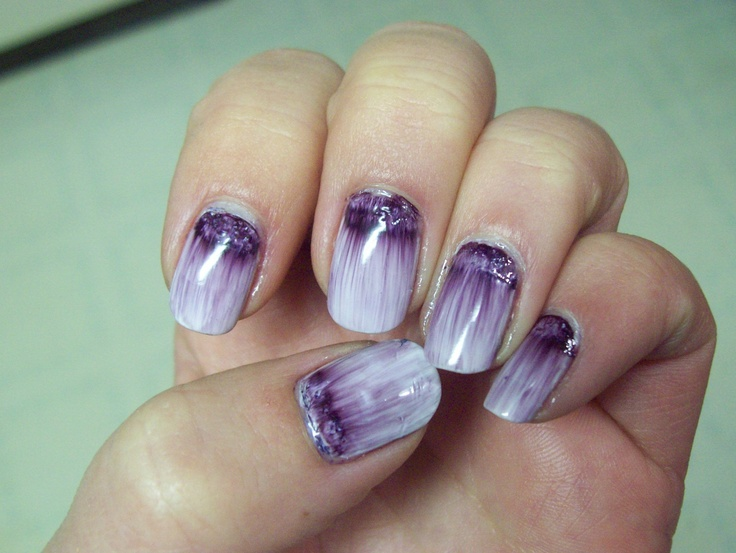 Sharpie magic for nails. Black sharpie then top coat changed color to  purple and spread - 16 Best Nail Art Ideas Images On Pinterest Nail Design, Fingernail