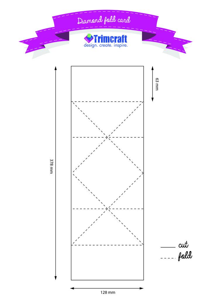 Diamond Fold Tutorial Amp Template Http Www Trimcraft Co