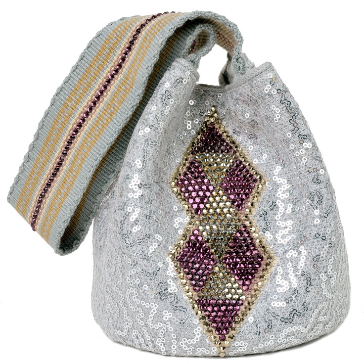 Lique Mochila Bag from the #SilviaTcherassi Wayúu Collection. Crystallized with Swarovski crystals.