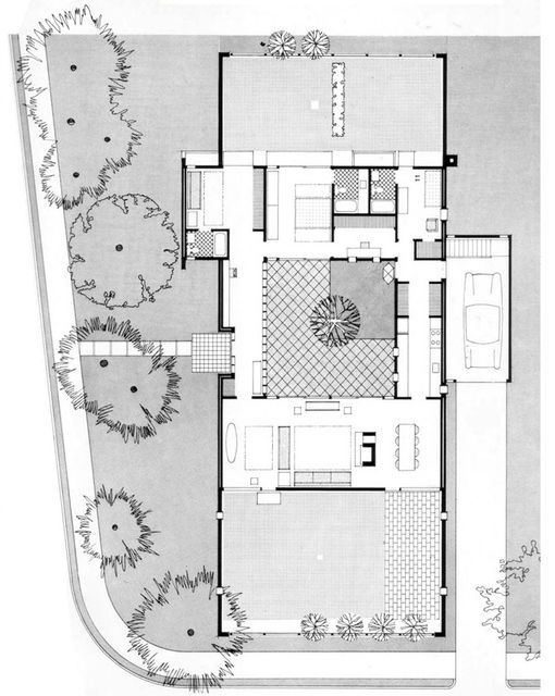 Sert House (1957, Cambridge, USA). Architect: Josep Lluís Sert