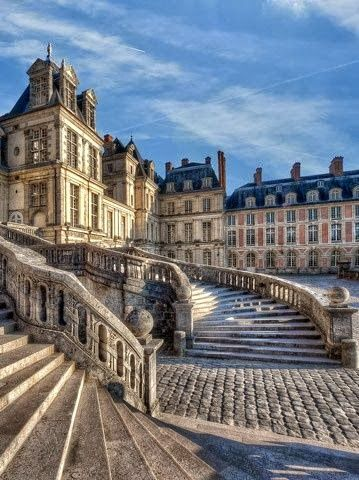 The Palace of Fontainebleau as it is today is the work of many French monarchs, building on an early 16th-century structure of Francis I.  The chateau is now a school of art, architecture, and music for students from the United States.  Palace of Fontainebleau, Île de France, France by Ganymede2009