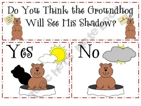 Groundhog Day graph freebie