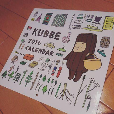 探し求めていた 来年のカレンダー♪ どれも決め手に欠ける、、な時に 大好きなキュッパをIG で発見~ 即効アマゾンぽちっ #キュッパ#kubbe #カレンダー2016  毎月かわぇえー