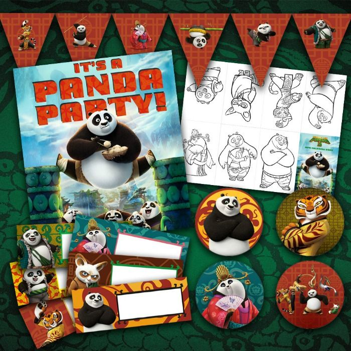 Here is a Kung Fu Panda 3 Party Pack and printables, perfect for a Kung Fu Panda 3 Party! Kung Fu Panda 3 hits theaters on January 29th!