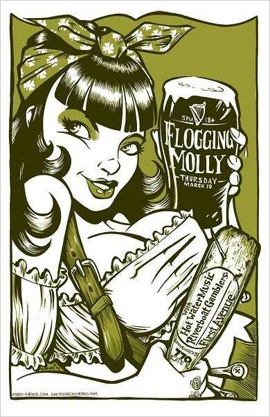 ☆ Rockabilly Flogging Molly Gig Poster