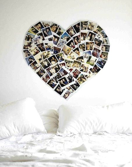 Another heart photo display. Dorm room?!