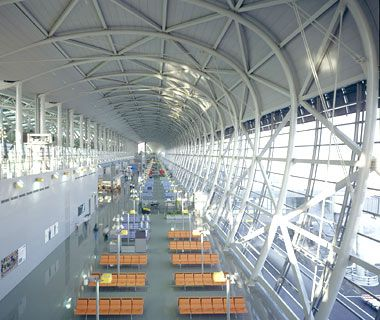 From Travel & Leisure - World's Most Beautiful Airports: Kansai International Airport, Osaka, Japan