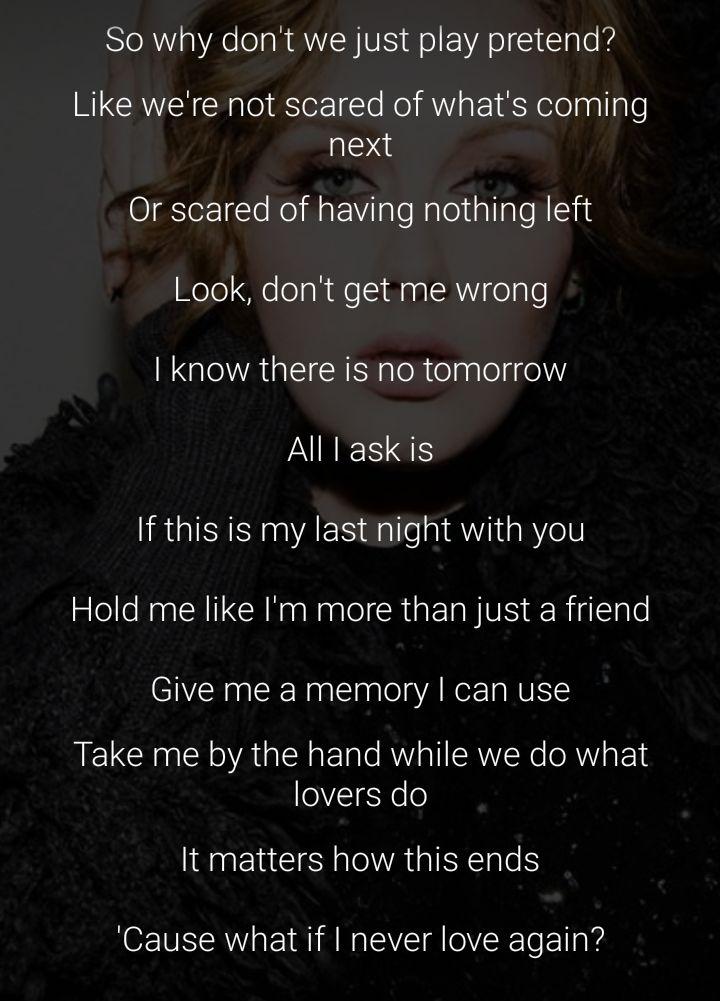#adele #allIask #lyrics #lovesong                              …