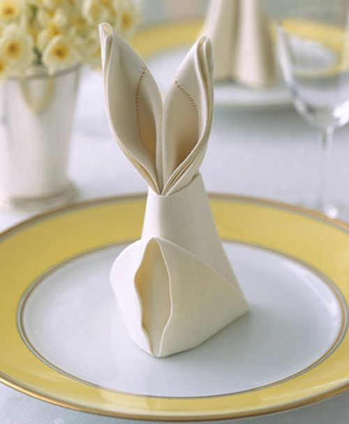 napkin rabbit easter
