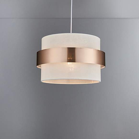 Joey Copper Easy Fit Pendant Lamp Shades Dunelm Light Shades