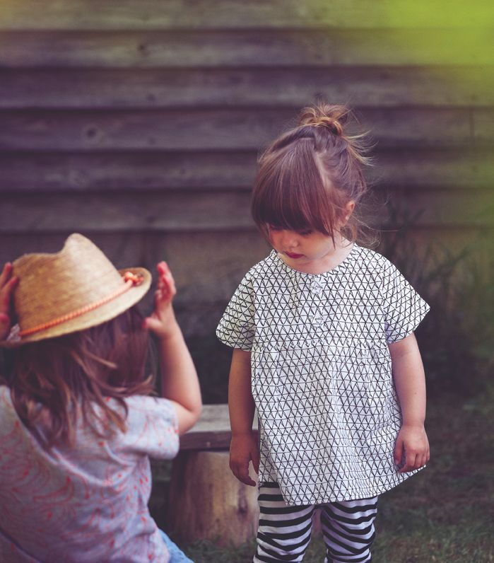 smock and leggings: Hipster, Summer Collection, Little Girls, Kids Style, Mixed Patterns, Children, Baby Girls, Hair, Adorable Kids