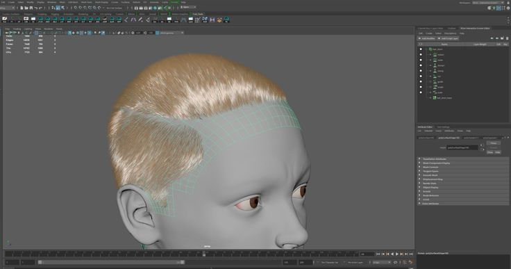 Current WIP of the hair for Frankie! All of the hair was created using XGen, rendered using Arnold, then placed using Maya. Finally everything was rendered over in Marmoset Toolbag 3. I had a lot of fun learning this! Big thanks to GameArtInstitute and Adam Skutt for the great course, I highly recommend!   For more frequent updates follow me on: https://www.instagram.com/jansen3d/