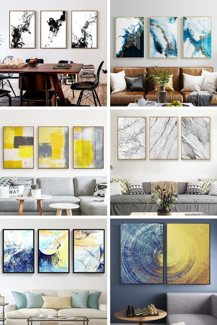 Canvas Art Homuu Abstract Canvas Wall Art Canvas Wall Art Chic Living Room Decor