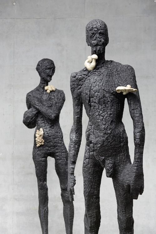 Seriously Cool Charcoal Sculptures from Aron Demetz