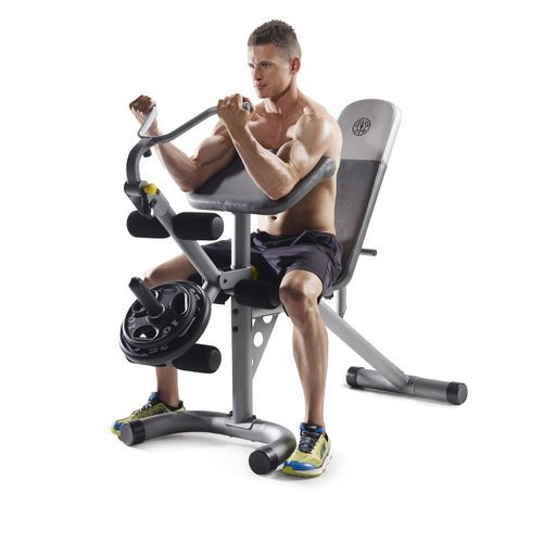 Gold S Gym Xrs 20 Olympic Workout Bench Black 04 Fitness