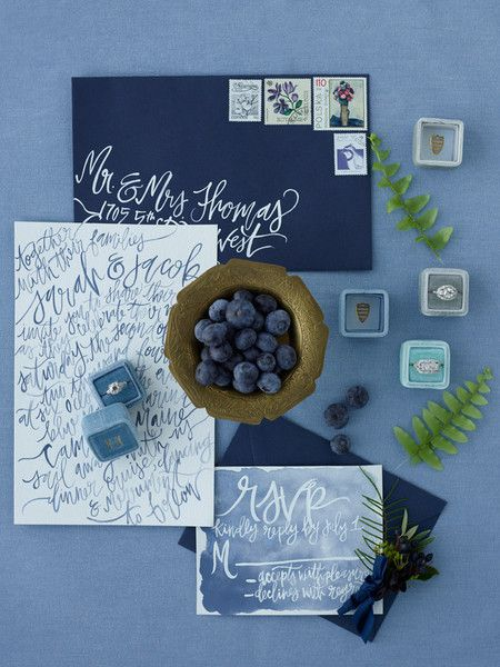 Color Scheme - Indigo blue, white and forest green W/ beige and cream accents