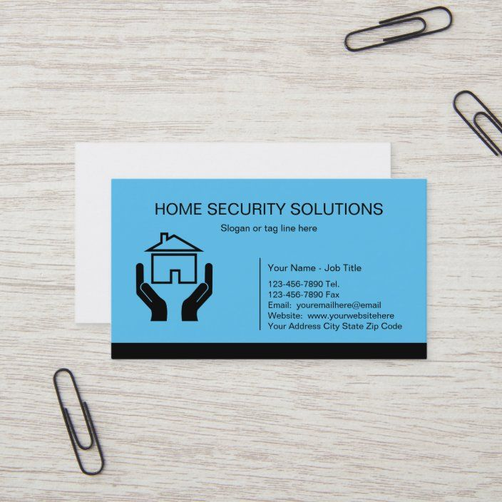 Home Security Business Cards Zazzle Com In 2021 Home Security Security Solutions Cards