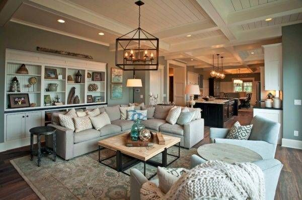 Warm Rustic Living Room Ideas: Warm And Inviting Rustic Lake House On Grand Traverse Bay