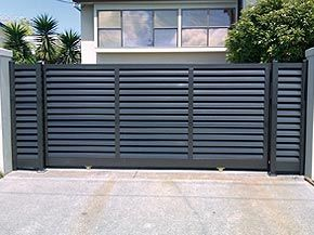 Double sliding gate design google search pinteres - Sliding main gate design for home ...