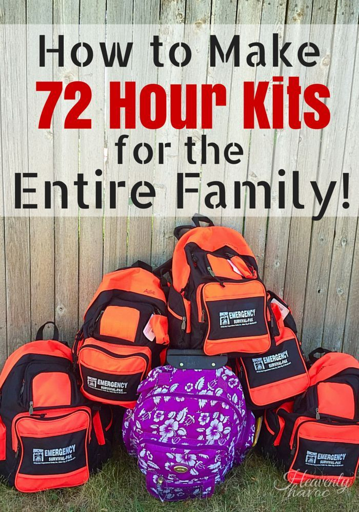 Wanna sleep a little better at  night? NOW is the time to get your family prepared! I'm so glad we finally got this done! Making 72 hour kits for the whole family was really not as hard as I thought it would be!