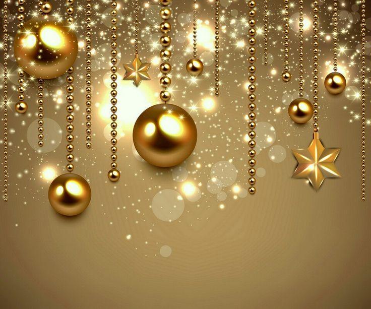 Gold ornaments | christmas ideas | Pinterest