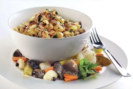 Trefa Supermarket - Recepty - Hlavní jídla -  Houbový ovar s haluškami
