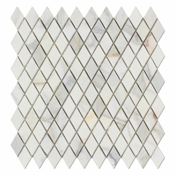Calacatta Gold Marble Honed 1 Quot Diamond Mosaic Tile